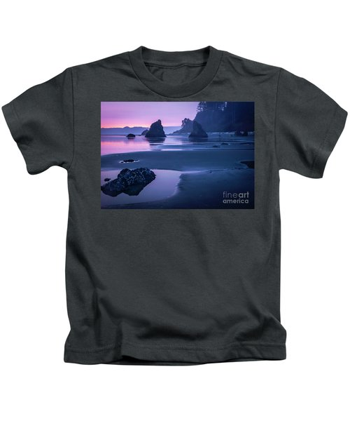 Sunset In Ruby Beach Kids T-Shirt