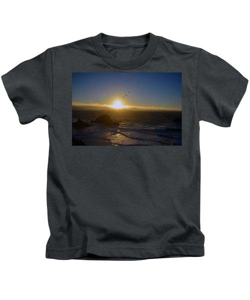 Sunset In San Francisco Kids T-Shirt