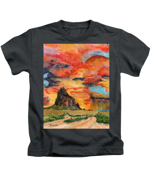 Sunset In The West Kids T-Shirt