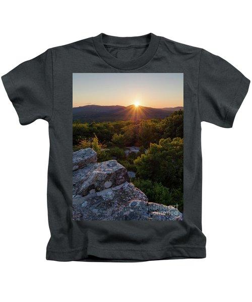 Sunset, Mt. Battie, Camden, Maine 33788-33791 Kids T-Shirt