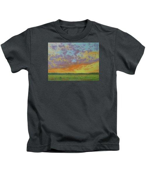 Sunset Near Miles City Kids T-Shirt