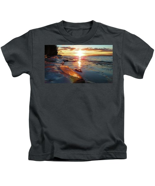 Sunset On Ice Kids T-Shirt