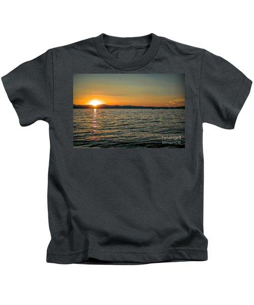 Sunset On Left Kids T-Shirt