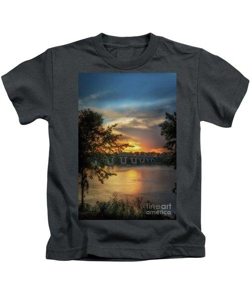 Sunset On The Arkansas Kids T-Shirt