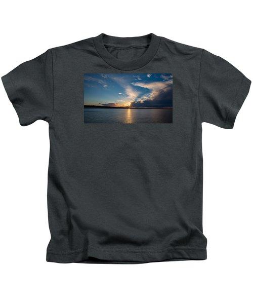 Sunset On The Baltic Sea Kids T-Shirt