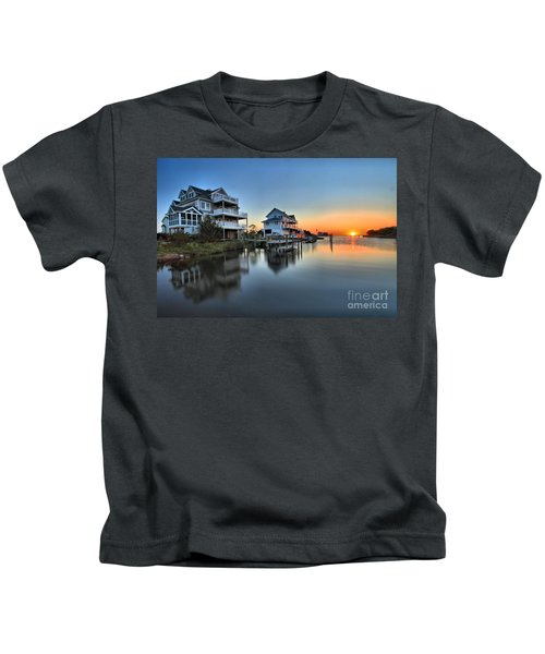 Sunset On The Obx Sound Kids T-Shirt