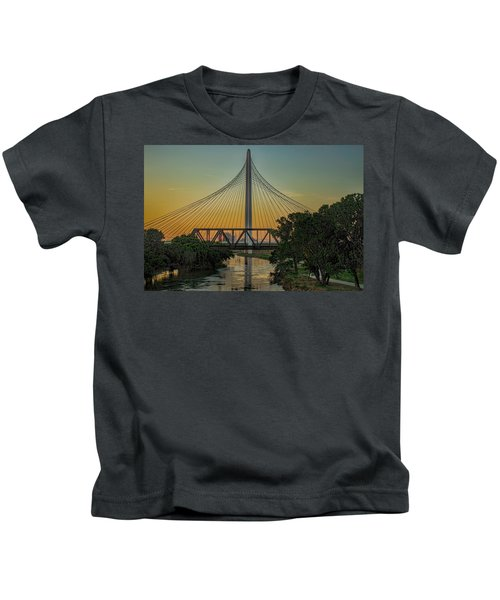 Sunset On The Trinity Kids T-Shirt