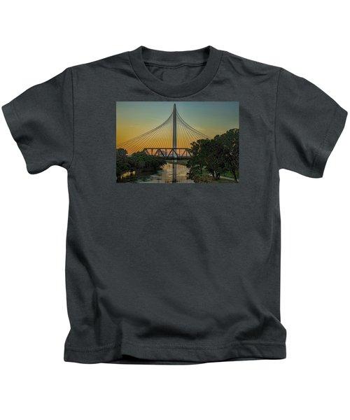Sunset On The Trinity Kids T-Shirt