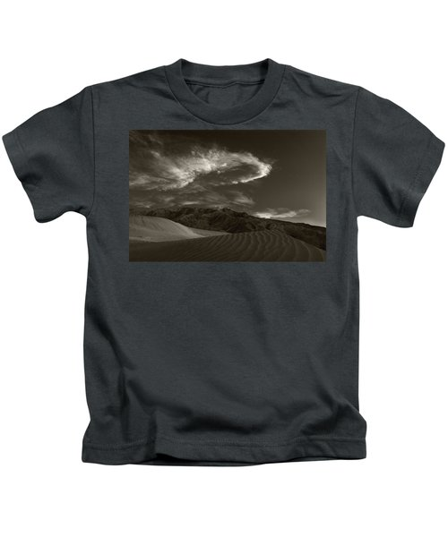Sunset Over Sand Dunes Death Valley Kids T-Shirt
