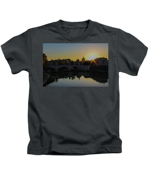 Sunset Over St Peters Kids T-Shirt