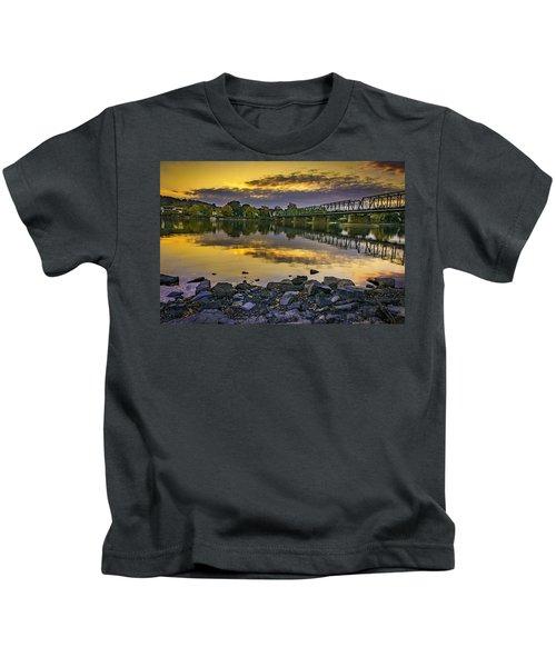 Sunset Over The Bridge Kids T-Shirt