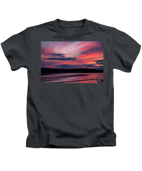 Sunset Red Lake Kids T-Shirt