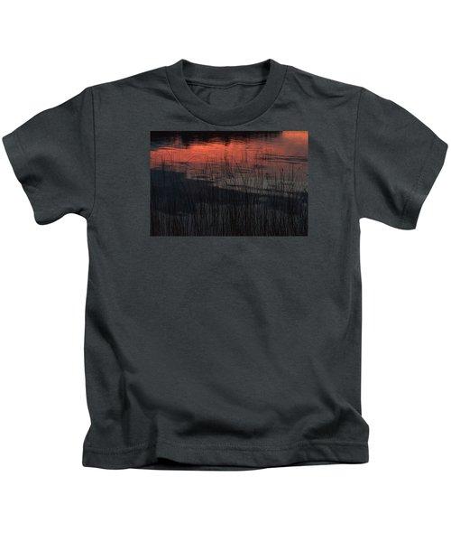 Sunset Reeds Kids T-Shirt