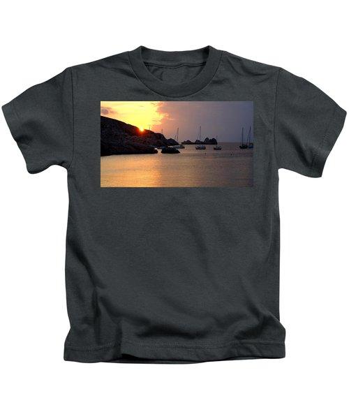 Sunset Sailing Boats Kids T-Shirt