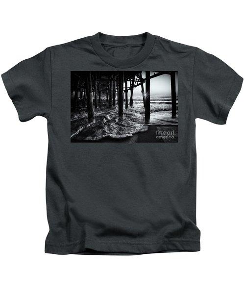 Sunset Under The Santa Monica Pier Kids T-Shirt