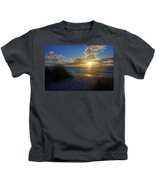 Sunset Windsurfer Kids T-Shirt