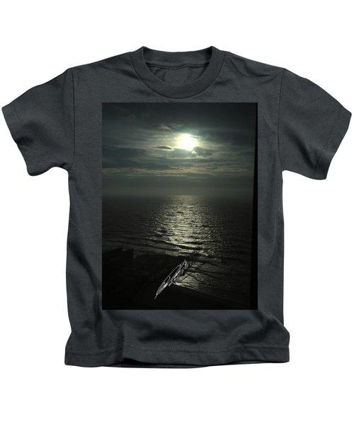 Sunshine Over Central Pier, Atlantic City, Nj Kids T-Shirt