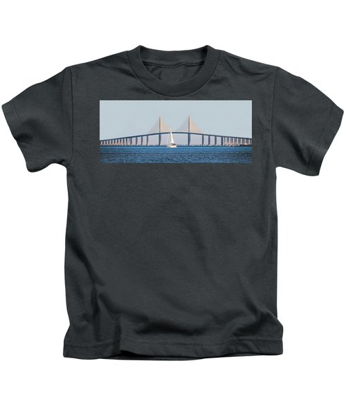Sunshine Skyway Bridge #2 Kids T-Shirt