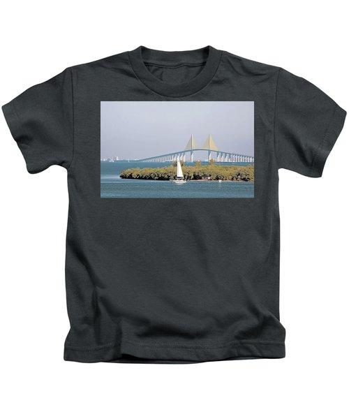 Sunshine Skyway Bridge Kids T-Shirt