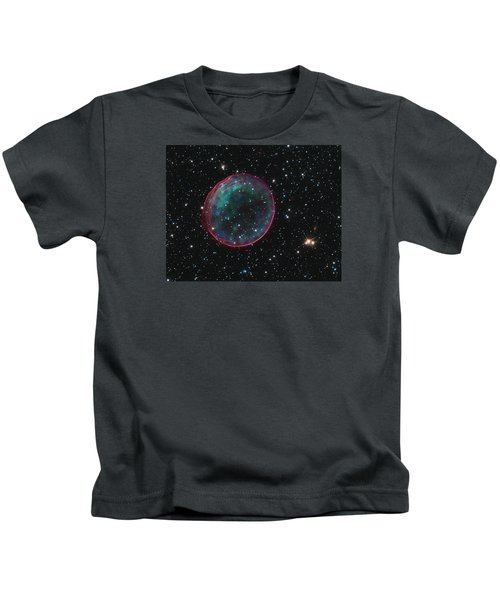 Supernova Bubble Resembles Holiday Ornament Kids T-Shirt