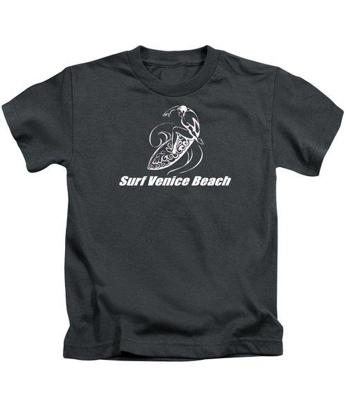 Surf Venice Beach Kids T-Shirt by Brian Edward