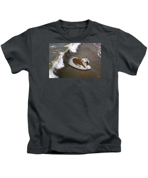 Surfer Dog Kids T-Shirt