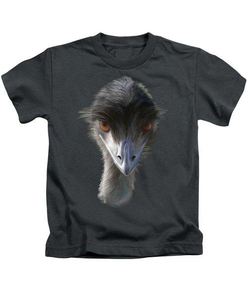Suspicious Emu Stare Kids T-Shirt