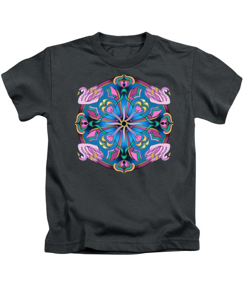 Swans Of Pink Kids T-Shirt by Mickey Flodin