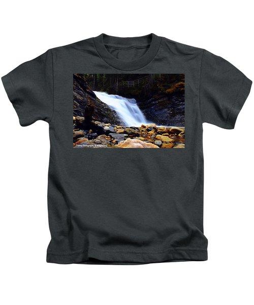 Sweet Creek Falls , Wa Kids T-Shirt