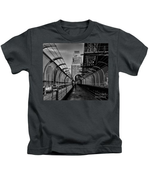 Sydney Harbor Bridge Bw Kids T-Shirt