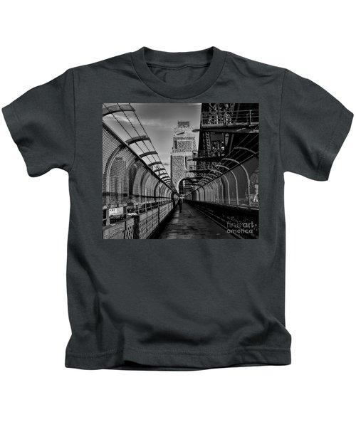 Sydney Harbor Bridge Bw Kids T-Shirt