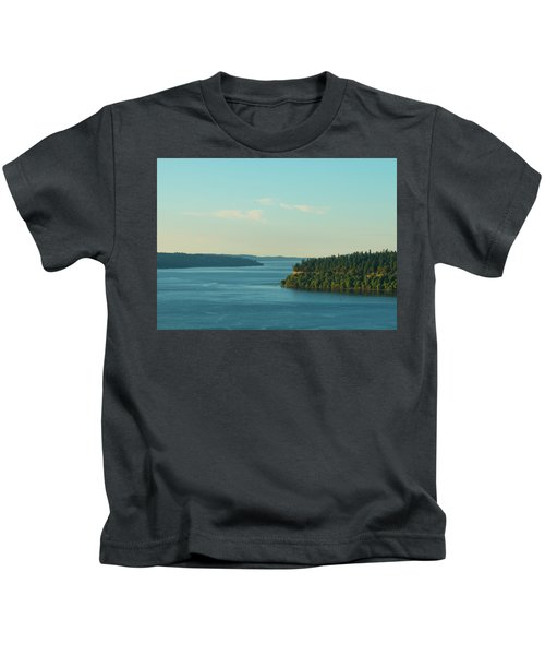 Tacoma Narrows And Commencement Bay II Kids T-Shirt