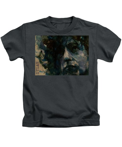 Tagged Up In Blue- Bob Dylan  Kids T-Shirt