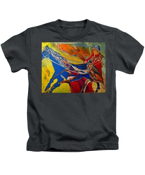 Taking The Reins Kids T-Shirt