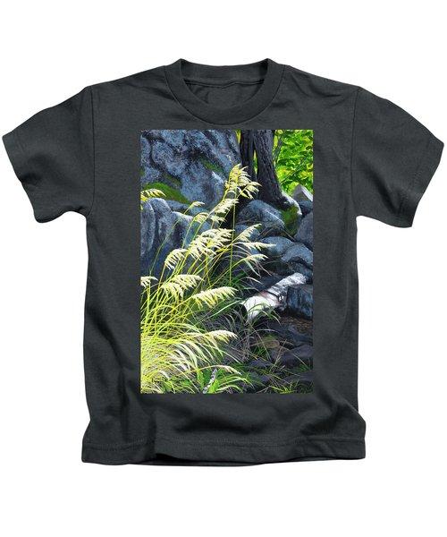 Tall Grass In A Breeze Kids T-Shirt