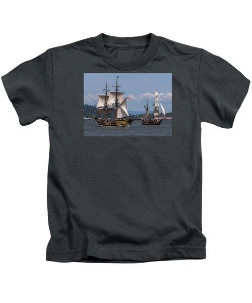 Tall Ships Square Off Kids T-Shirt