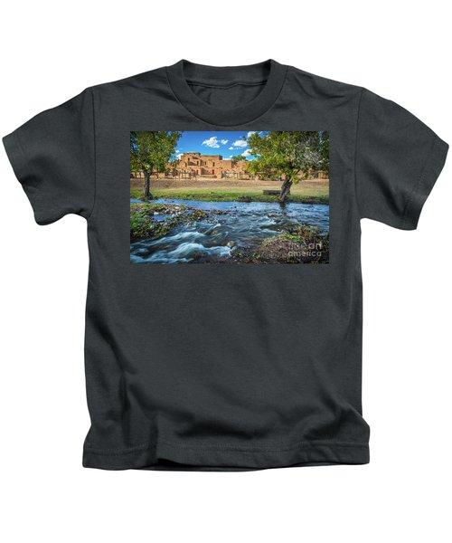 Taos Pueblo Creek Kids T-Shirt