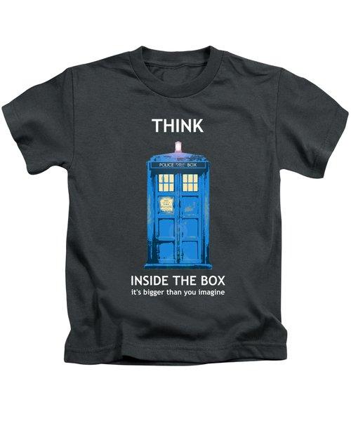Tardis - Think Inside The Box Kids T-Shirt
