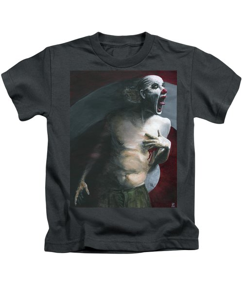 Kids T-Shirt featuring the painting Target Practice by Matthew Mezo
