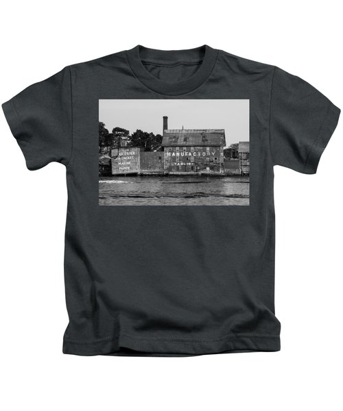 Tarr And Wonson Paint Manufactory In Black And White Kids T-Shirt