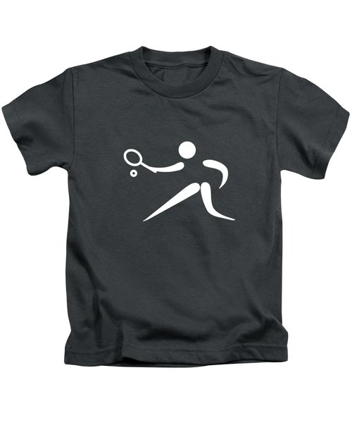 Tennis Player Kids T-Shirt by Frederick Holiday