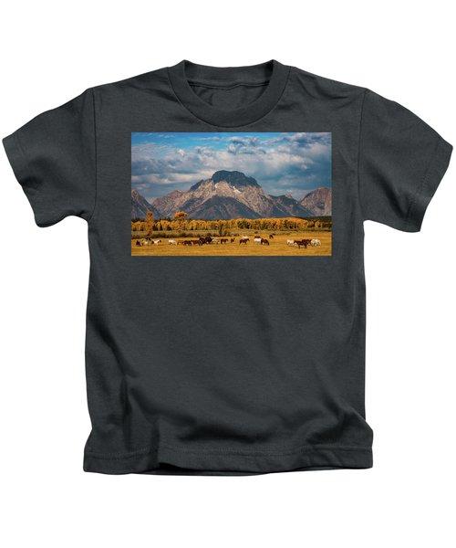 Teton Horse Ranch Kids T-Shirt