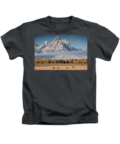 Teton Horses Kids T-Shirt