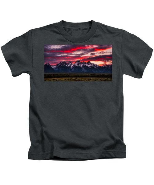 Teton Sunset Kids T-Shirt