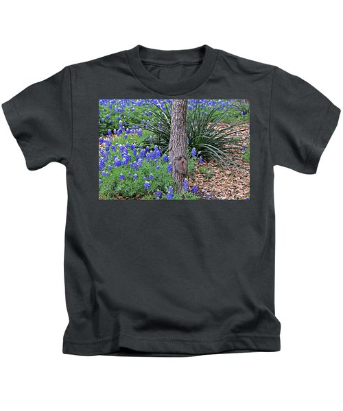 Texas Bluebonnets Kids T-Shirt