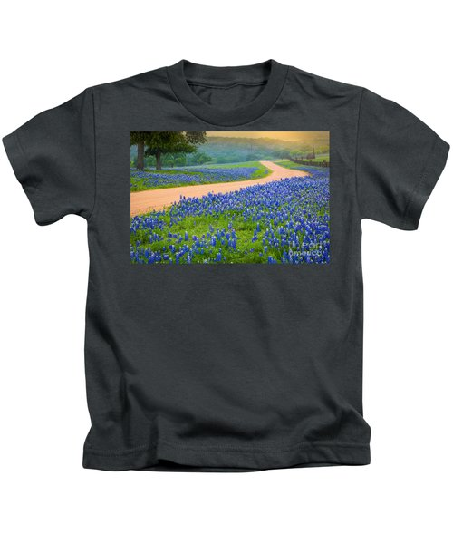 Texas Country Road Kids T-Shirt