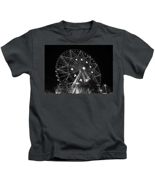 Texas Star 061116 V2bw Kids T-Shirt