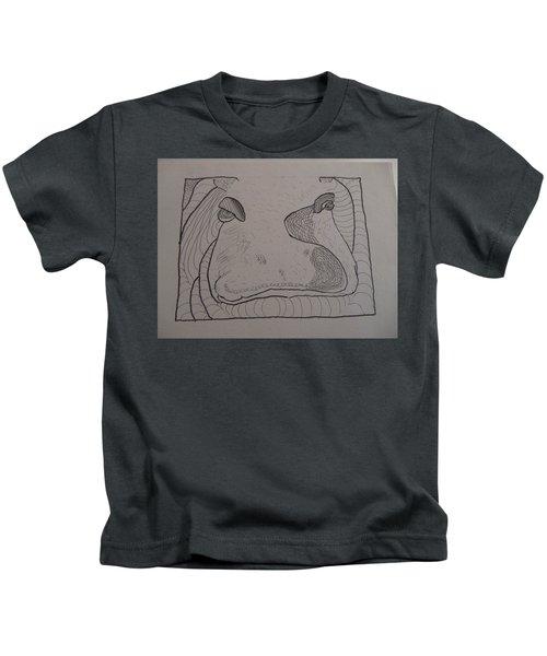 Textured Hippo Kids T-Shirt