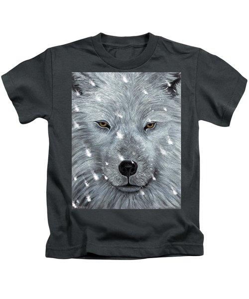 The Amber Eyed Wolf Kids T-Shirt