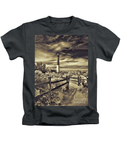 The Barnegat Lighthouse New Jersey Kids T-Shirt